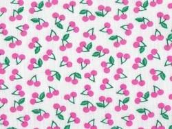 Tissu imprimé - fleurs roses