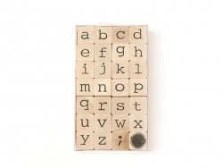 Lowercase letter stamps - 28 characters
