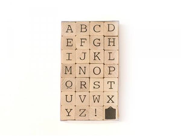 Tampons Alphabet lettres majuscules - 28 caractères