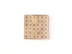 Capital letter and number stamps - 36 characters
