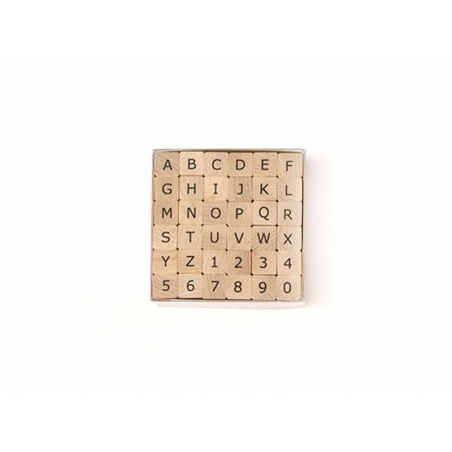 Acheter Tampons Alphabet lettres majuscules et chiffres - 36 caractères - 10,99€ en ligne sur La Petite Epicerie - Loisirs c...