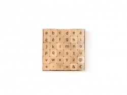 Lowercase letter and special character stamps - 36 characters