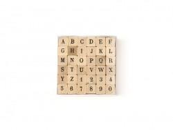 36 Stempel - Alphabet (Großbuchstaben) und Zahlen