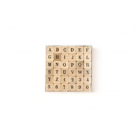 36 Tampons Alphabet lettres majuscules et chiffres