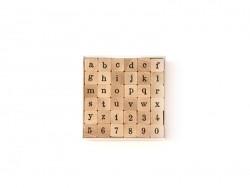 36 Stempel - Alphabet (Kleinbuchstaben) und Zahlen