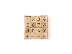 Tampons Alphabet chiffres  - 16 caractères Artemio - 1