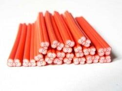 Cane noeud rouge pois- modelage et pâte fimo  - 1