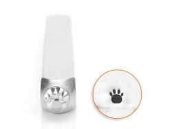 Metal stamp - pawprint