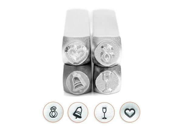 Metal stamp - wedding set