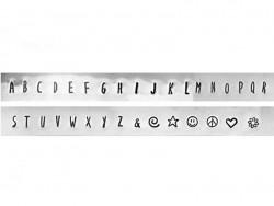 Tampons à frapper - lettres majuscules Lollipop