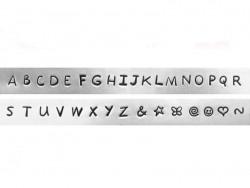 Tampons à frapper - lettres majuscules Juniper