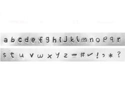 Prägestempel - Kleinbuchstaben (Juniper)