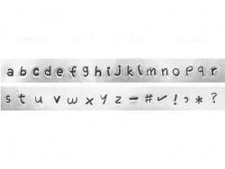 Tampons à frapper - lettres minuscules Juniper