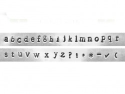 Prägestempel - Kleinbuchstaben (Newsprint)
