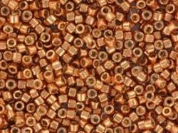 Röhrchen mit 1.100 Rocailleperlen - Miyuki Delica's 11/0 - korallenorange, Nr. 2042