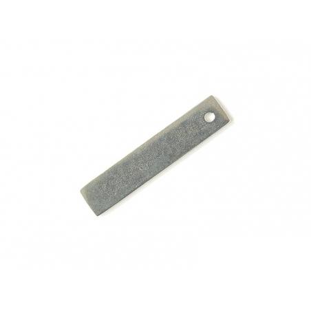 Plaque à frapper rectangle perforé - argenté