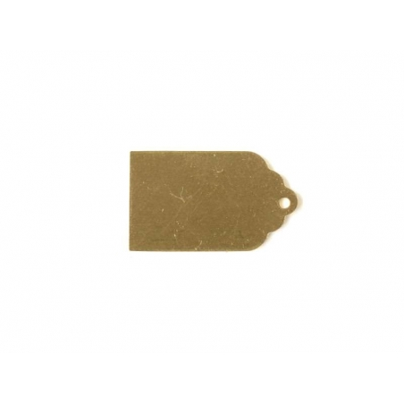 Stamping blank - tag - golden