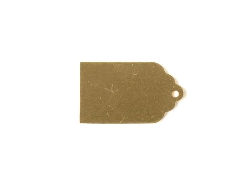 Plaque à frapper étiquette - doré
