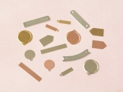 Stamping blank - tag - copper-coloured