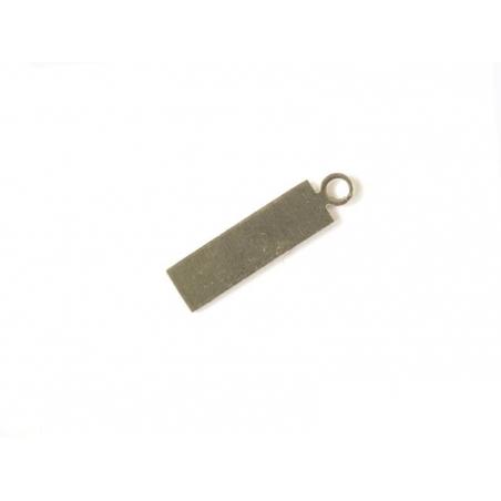 Plaque à frapper pendentif rectangle - argenté