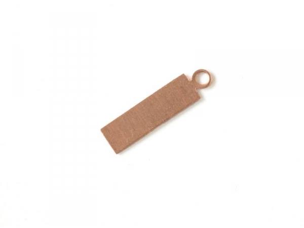 Plaque à frapper pendentif rectangle - cuivré
