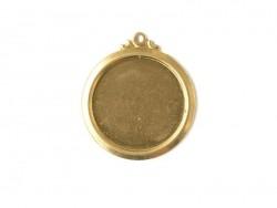 Plaque à frapper médaillon avec anneau perforé - doré IMPRESS Art - 1