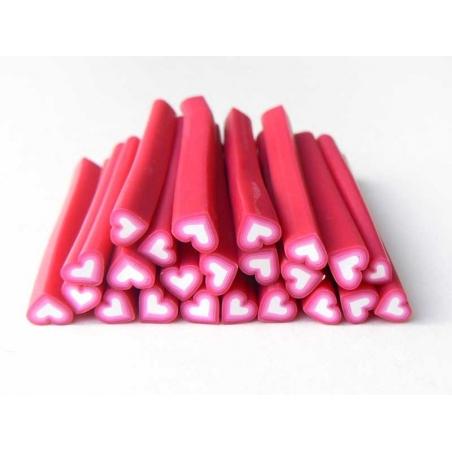 Acheter Cane coeur rose dégradé blanc - 0,99€ en ligne sur La Petite Epicerie - Loisirs créatifs