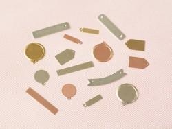 Plaque à frapper médaillon avec anneau perforé - argenté