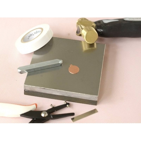 Stamping blank - strip - copper-coloured