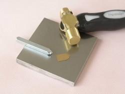 Metal stamping block
