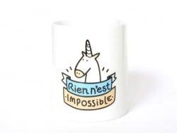 """Mug """"rien n'est impossible"""" Mr Wonderful  - 1"""