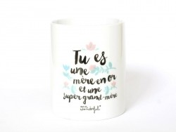 "Mug ""mère en or"" Mr Wonderful  - 1"