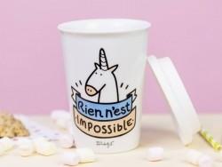 """Mug à emporter """"Rien n'est impossible"""""""