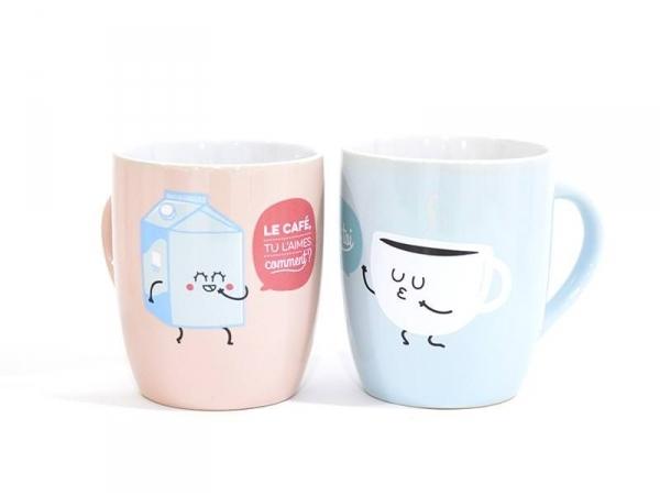 """Duo de mug """"Café"""" Mr Wonderful  - 1"""