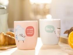 """Two mugs - """"Café"""""""