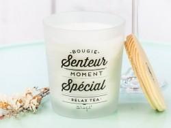 Bougie parfum thé relaxant