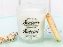 Scented candle - relaxing tea