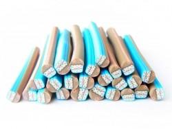 Cupcakecane - blau und mit Schleife
