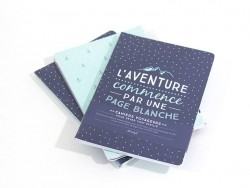 "3 carnets ""aventure"""