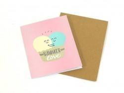 "Carte ""Summer love"" Mr Wonderful  - 1"