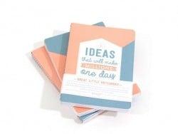 """3 carnets """"ideas"""""""