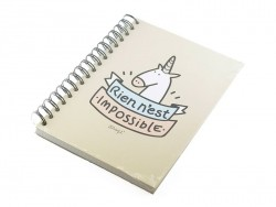 "Notebook - ""Rien n'est impossible"" (Nothing is impossible)"