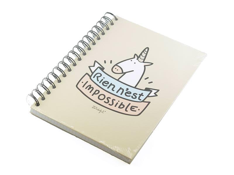"""Acheter Cahier """"Rien n'est impossible"""" - 14,90€ en ligne sur La Petite Epicerie - 100% Loisirs créatifs"""