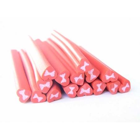 Acheter Cane coeur rouge et noeud rose - 0,99€ en ligne sur La Petite Epicerie - Loisirs créatifs