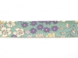 1 m of bias binding (20 mm) with flowers - Raphaël (colour no. 5)
