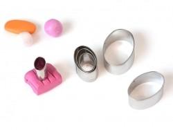 6 emporte-pièces ovales en métal