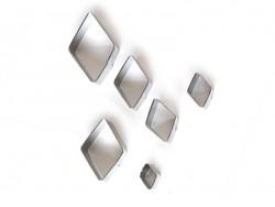 6 Ausstechformen aus Metall - Rauten