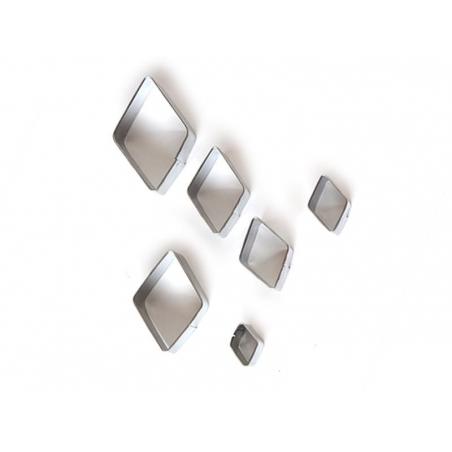 6 metal biscuit cutters - Diamonds