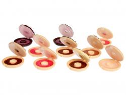 Lipgloss - Donut mit Schokoladenguss und gehackten Nüssen