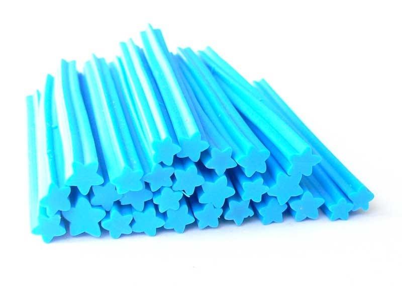 Acheter Cane étoile bleue- en pâte fimo - à trancher - 0,99€ en ligne sur La Petite Epicerie - Loisirs créatifs